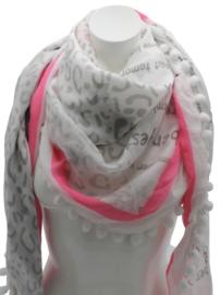 Driehoek sjaal wit