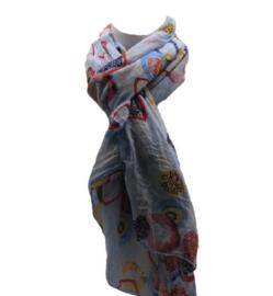 Zomer sjaal lichtblauw