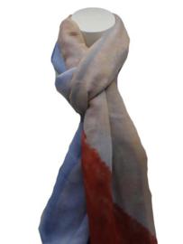 Dames sjaal blauw