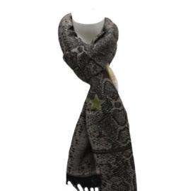 Sterren sjaal grijs
