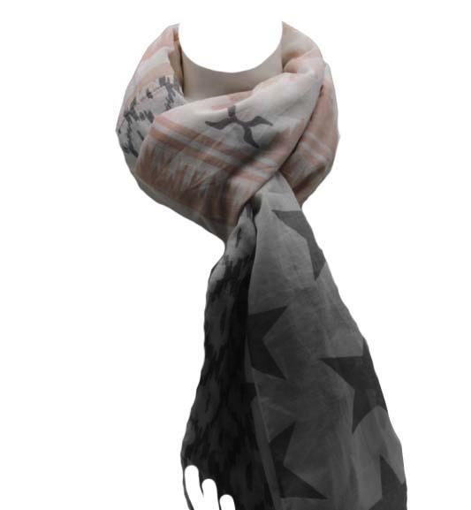 Sterren sjaal wit