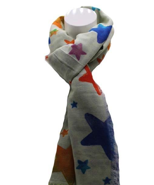 Zomer sjaal multicolor