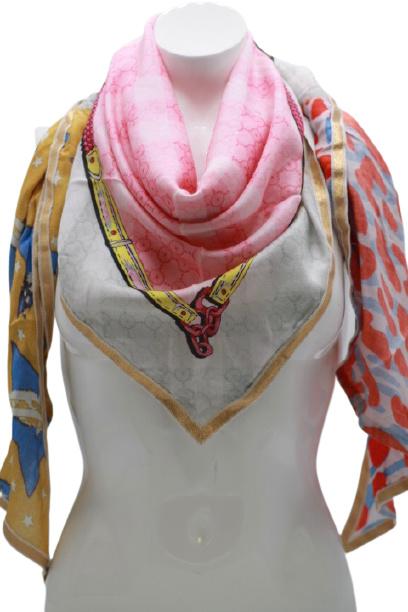 Driehoek sjaal multicolor