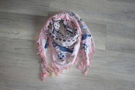 Sjaal vierkant oud roze