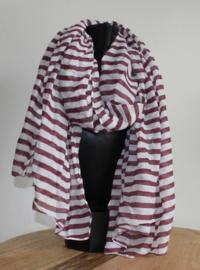 Sjaal streep Bordeaux