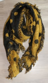 Sjaal Stippen geel/zwart