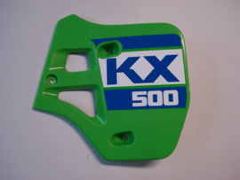 KX500-D1, 1988 Shroud - Engine, RH, L.Green nos