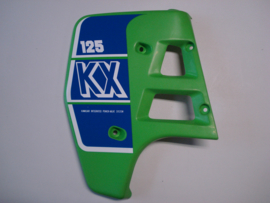 KX125-G1, 1989 Shroud - Engine, LH, L.Green nos