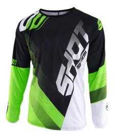 Shot Crossshirt Devo Ultimate Zwart Neon Groen 2019