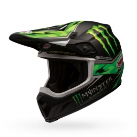 Bell Helmet MX-9 Pro Circuit Monster Energy Green Camo.