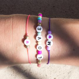 DIY - Set 1 - Letter Armbandjes - Multicolor