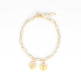 Armband - Initials - RVS gold