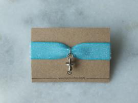 Elastic Bracelet - Baby Blue/ Pink