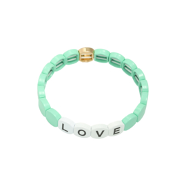 Colourful LOVE Bracelet - Round - mint