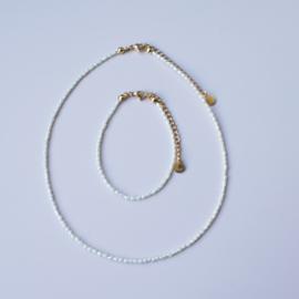 Ketting - Mini Pearl - RVS gold