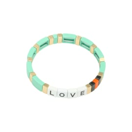 Colourful LOVE Bracelet - mint