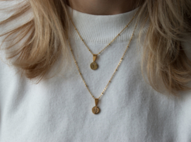 Necklace Short - Initial - RVS gold
