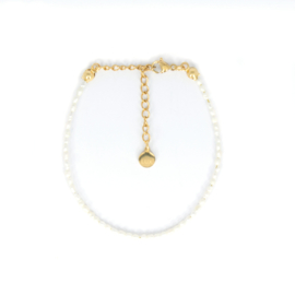 Armband - Mini Pearl - RVS gold