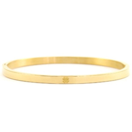 Bangle - Clover - RVS gold