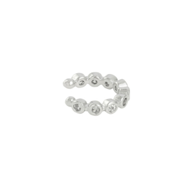 Ear Cuff - dots - silver plated
