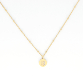 Necklace Long - Initial - RVS gold