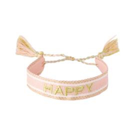 Bracelet - HAPPY - pink