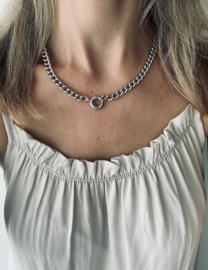 Korte ketting - Chain - silver plated