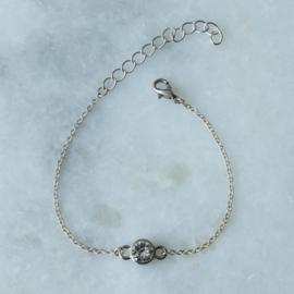 Crystal Bracelet - Silver plated