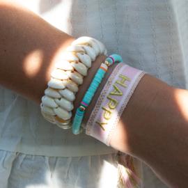 Armband - HAPPY - pink