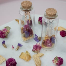 Jewelry in a Bottle Flower - Earrings - gold plated