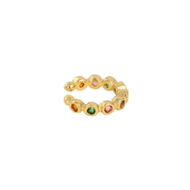 Ear Cuff - dots - multicolor gold plated