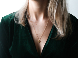 Long Necklace - Shark Tooth - gold plated