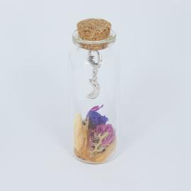 Jewelry in a Bottle Flower - Earrings - silver plated