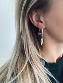 Earrings medium - silver plated