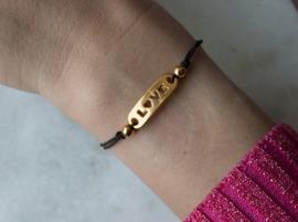 Elastic Bracelet - LOVE - Gold plated
