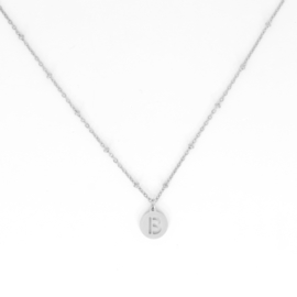 Necklace Short - Initial - RVS silver