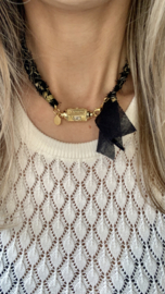 BANDANA NECKLACE | PRAYER BOX | BLACK BROWN