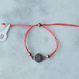 NESW Bracelet - Coral - Silver plated