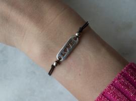 Elastic Bracelet - LOVE - Silver plated