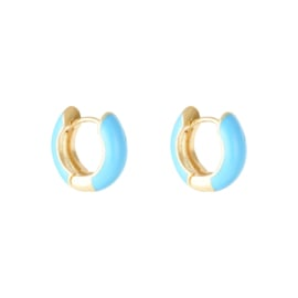 EARRINGS | BLUE | GOLD PLATED