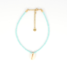 Mini Beads Anklet - Shell - mint