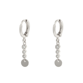 Earrings small - Sparkle with coin - silver/gold plated