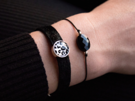 Facet Armband - silver beads