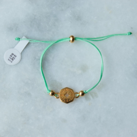 NESW Bracelet - Green - Gold plated