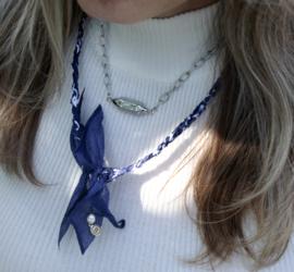 BANDANA NECKLACE | BLUE