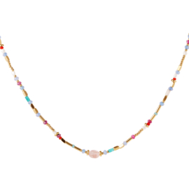GOLD BEADS NECKLACE | RVS GOLD