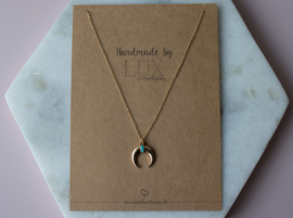 Long Necklace - Hoorn - gold plated