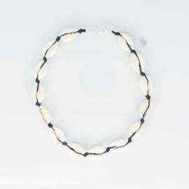 Shell Necklace + Anklet + Braclet - black