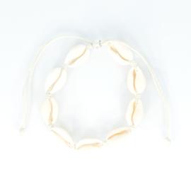 Shell Anklet + Bracelet - beige
