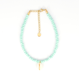 Beads Anklet - Shell - mint